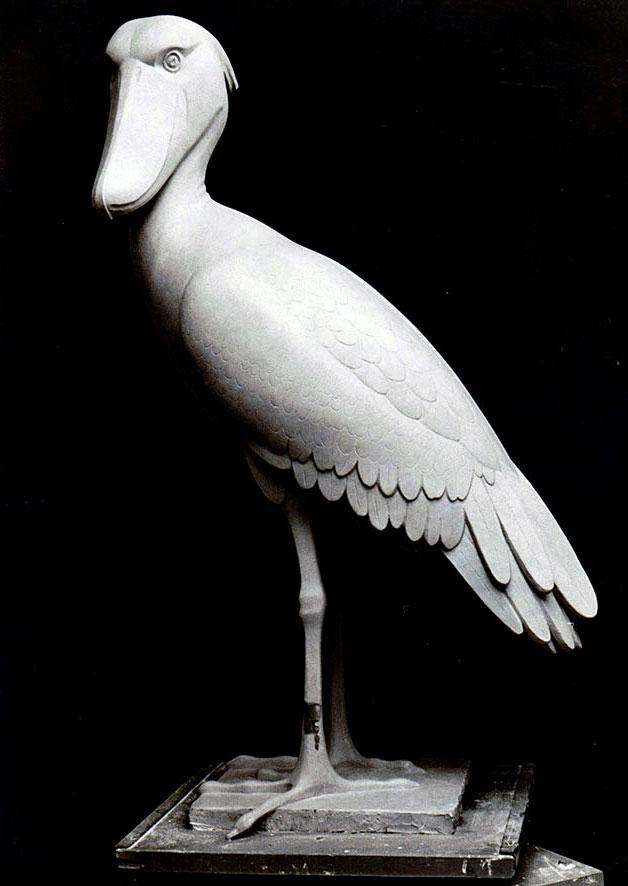 Abu Markub (Schuhschnabel) • Gips • 130cm • 1968