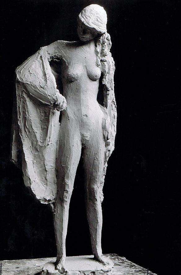 Badendes Mädchen • 50 cm • Gipsentwurf • 1955