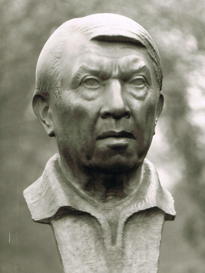 Bildnis Franz Raziwill • Bronze • 49cm • 1976