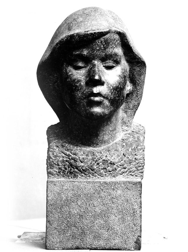 Mädchenbüste Diabas • Stein • lebensgroß • 1934