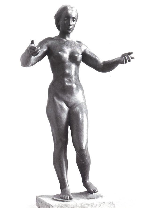 Frau mit erhobenen Armen • Bronze • 120 cm • 1937