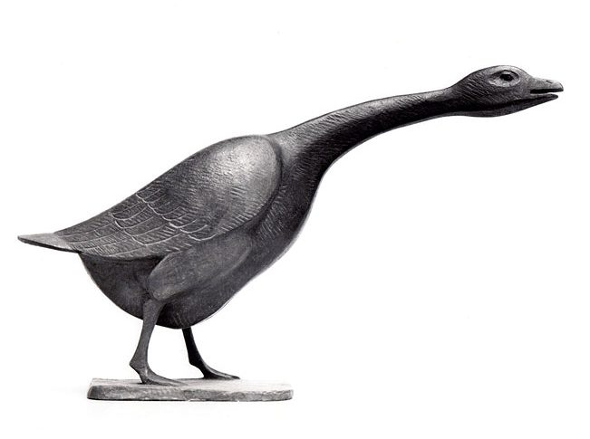 Zischende Gans • Bronze • 21,5cm • 1967