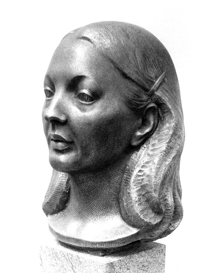 Bildnis Heide Esenbauer • Bronze • lebensgroß • 1981