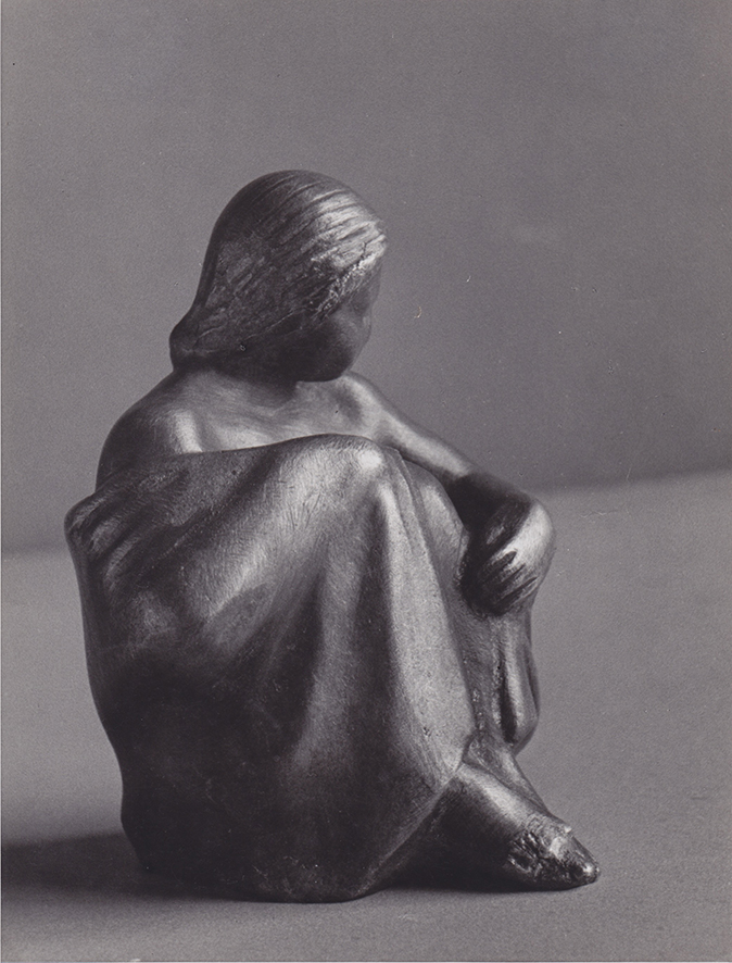 Hockende Gewandfigur • Bronze • 10cm • 1935