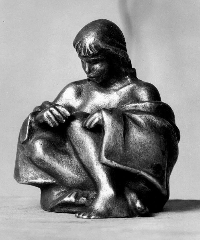 Hockende • 9 cm • Bronze • 1935