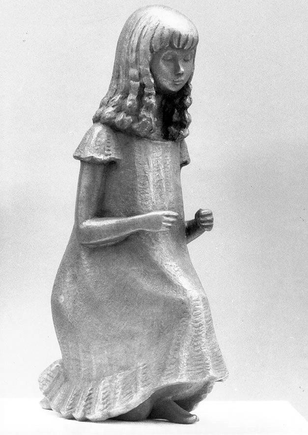 Kniendes Gewandfigur • 23,5 cm • Bronze • 1968