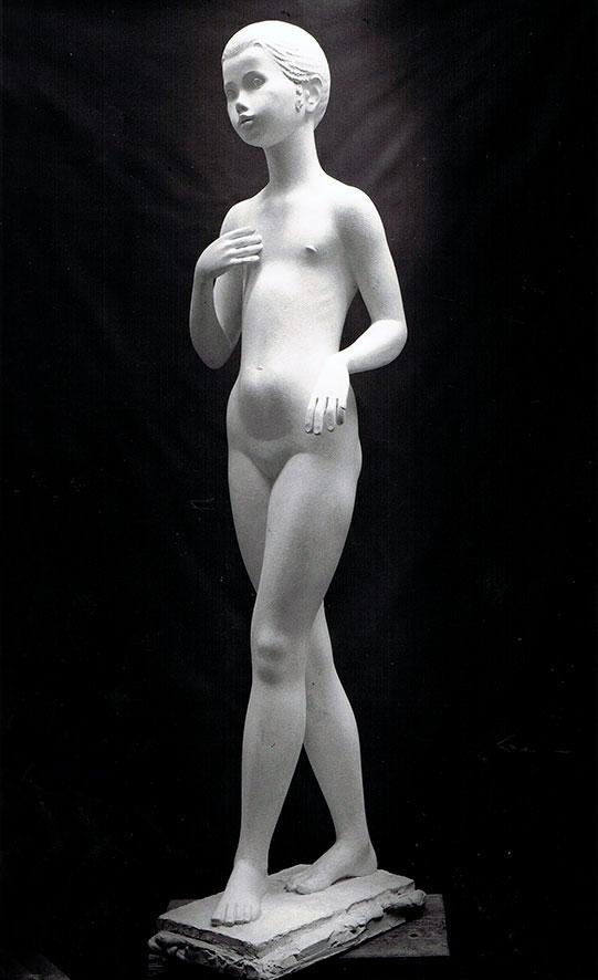 Mädchenakt • Gips • 141 cm • 1975