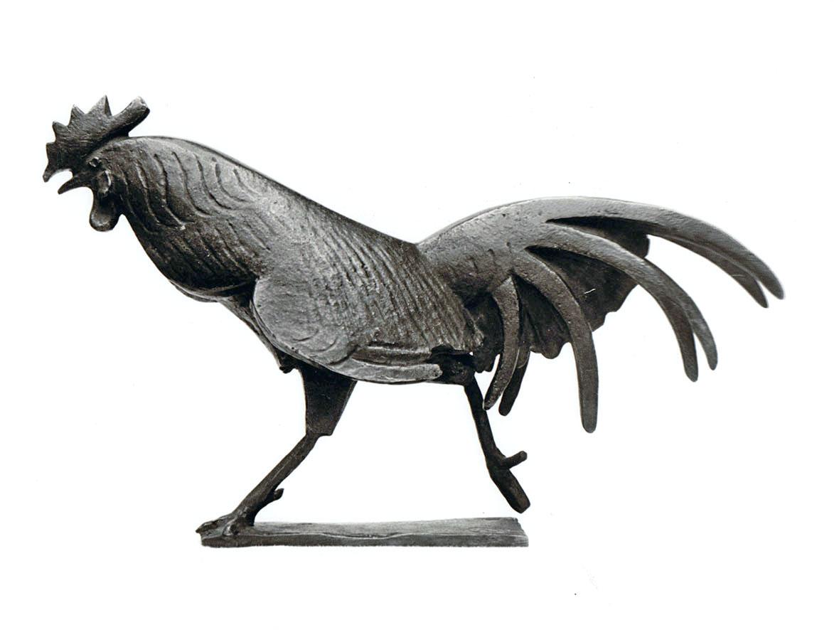Rennender Hahn • Bronze • 15cm • 1964