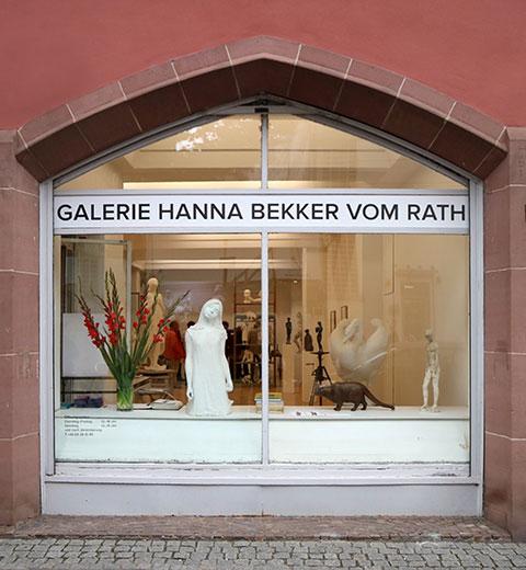 Schaufenster der Galerie Hanna Bekker vom Rath zur Agricola Ausstellung 2017