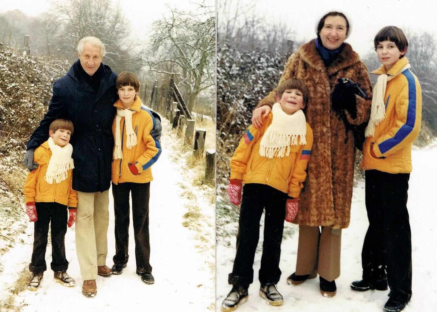 Zweite Ehe • Kronberg • 1978 • Rudolf Alexander und zweite Ehefrau Gertrud mit den Kindern Reneè und Alexander Agricola