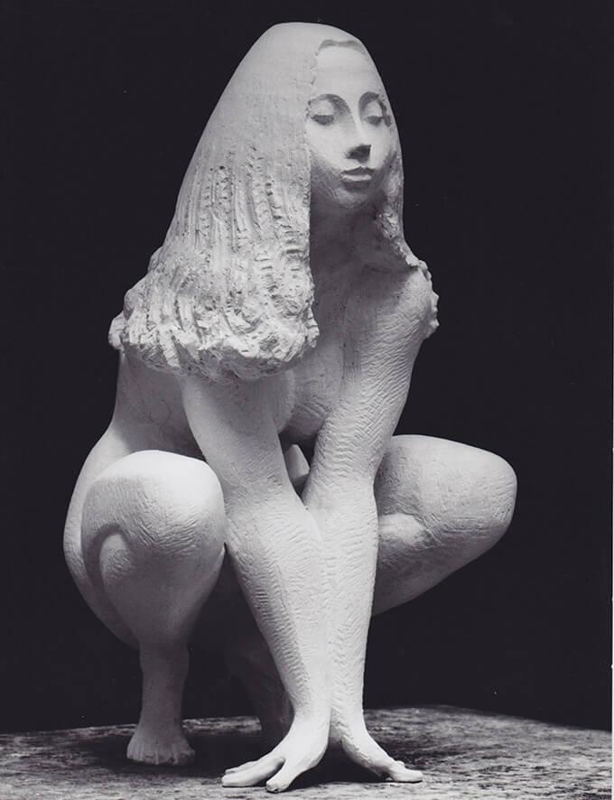 Frauenakt Martine • Gips • 23cm • 1970