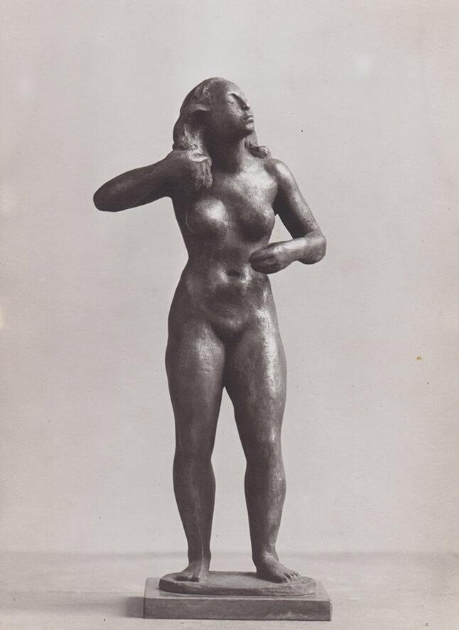 Kleine Haarflechterin • Bronze • 40cm • 1940