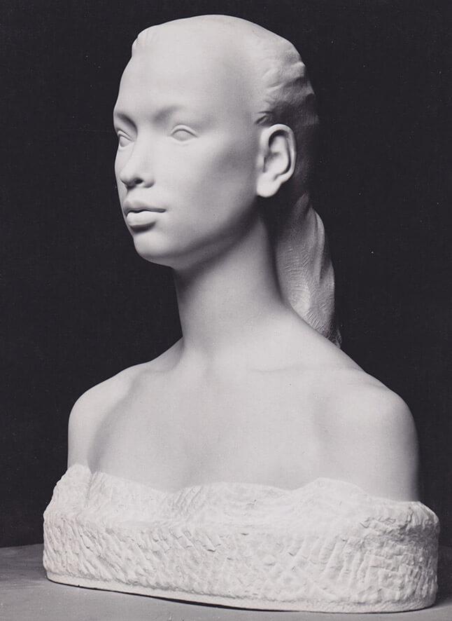 Mädchenbüste Madlon • Marmor • lebensgroß • 1940